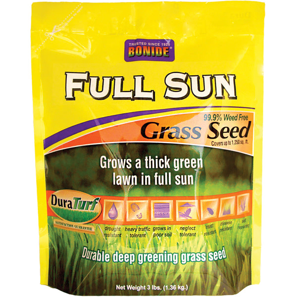 Bonide 60202 Full Sun Weed Free Grass Seed, 3 Lb