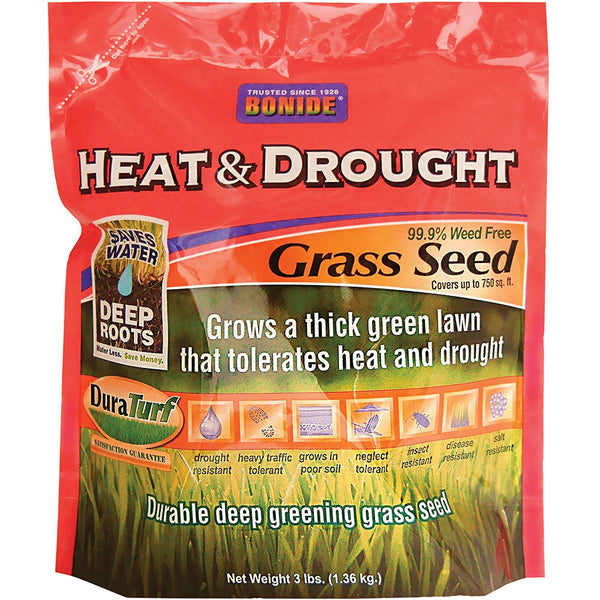 Bonide 60252 Heat & Drought Weed Free Grass Seed, 3 Lbs