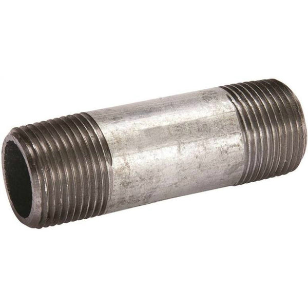 "Southland 570-040BC Galvanized Threaded Pipe Nipple, Steel, 3"" Dia, 4"" Length"