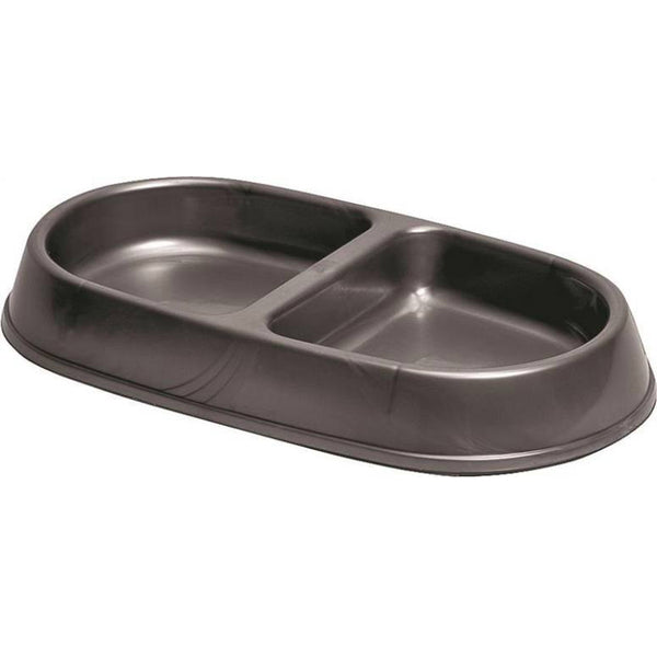 Petmate 23047 Lightweight Double Diner Pet Feeder Dish, Small, 7 Oz