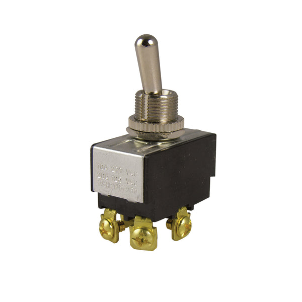 Calterm 41770 Heavy-Duty Toggle Switch w/ OFF-ON Function, Chrome, 35A, 12V DC