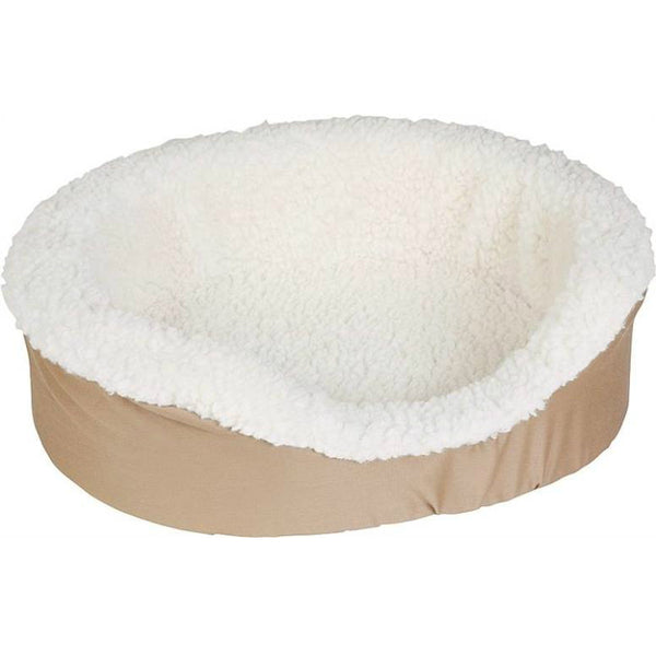 "Aspen Pet 23078 Plush / Suede Oval Lounger Bed, 18"" x 14"""