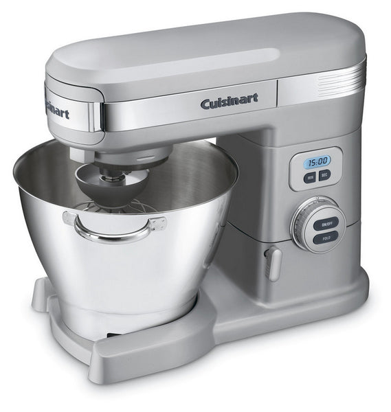 Cuisinart SM-55BC Stand Mixer with 3-Power Ports, Brushed Chrome, 5.5 Quart
