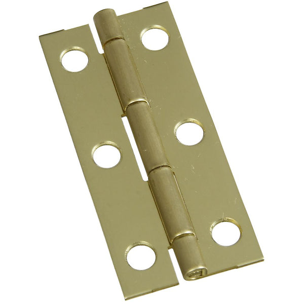 "National Hardware N211-250 Decorative Narrow Hinge, 2-1/2"" x 1-1/8"", Solid Brass"