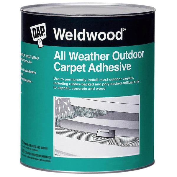 DAP 00442 Weldwood All Weather Outdoor Carpet Adhesive, Tan, 1 Qt