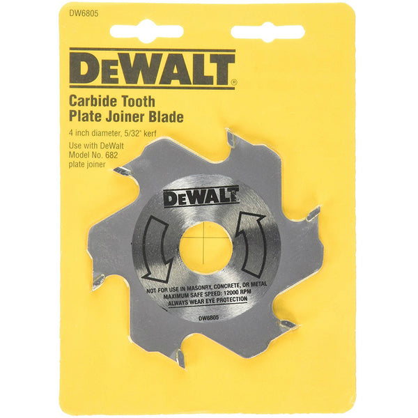 "DeWalt DW6805 Carbide Tooth Plate Joiner Blade, 5/32"" Kerf, 4"" Diameter"