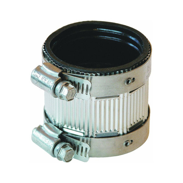 "Fernco PNH-215 Reducing Size No-Hub Coupling with Shield Design, 2"" x 1-1/2"""