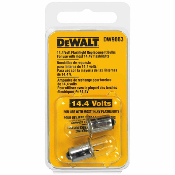 DeWalt DW9063 Flashlight Replacement Bulb, 14.4V, 2 Count