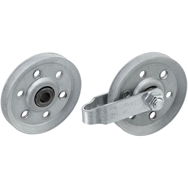National Hardware N280-578 Steel Garage Door Pulley, Galvanized, 3""