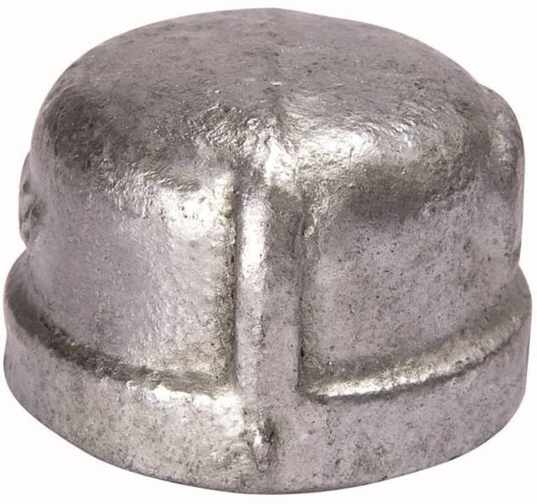 "Mueller 511-411BC Pipe Cap, 4"", Malleable Iron"