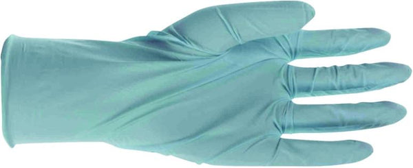 Boss 1UH0001L Disposable Blue Nitrile Gloves, 4 mil Powdered, Large, 100-Count