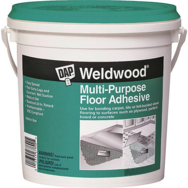 DAP 00144 Weldwood Multi-Purpose Floor Adhesive, Off White, 4 Gallon