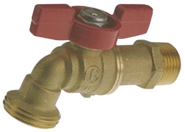 "Muellar 103-023 Hose Bibb, 1/2"" MPT Inlet, 3/4"" Male Hose Thread Outlet"