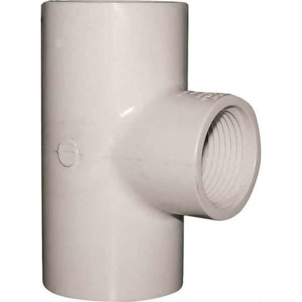 "Genova 31484 Solvent Weld Pipe Reducing Tee, PVC, 1-1/4"" x 1-1/4"" x 1"""
