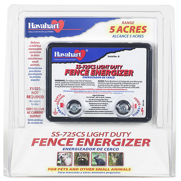 Havahart SS-725CS Light Duty AC-Powered Fence Energizer, 5 Acre