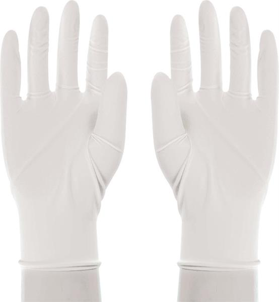 Boss 1UL0004X Disposable Latex Gloves, 3 mil Powdered, White, X-Large, 100-Ct