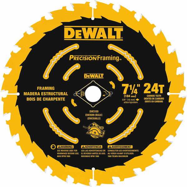 DeWalt DW7112PT Small Diameter Precision Saw Blade, 7-1/4""