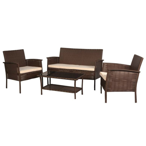 Bond 65650 Seasonal Trends Asheville Chat Set Wicker, 4-Piece