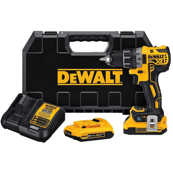 DeWalt DCD792D2 XR Tool Connect Compact Drill/Driver Kit, 20V Max