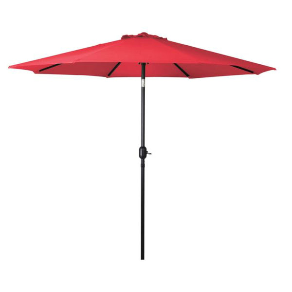 Bond 69867 Seasonal Trends Crank umbrella with 9' Steel Pole, Red