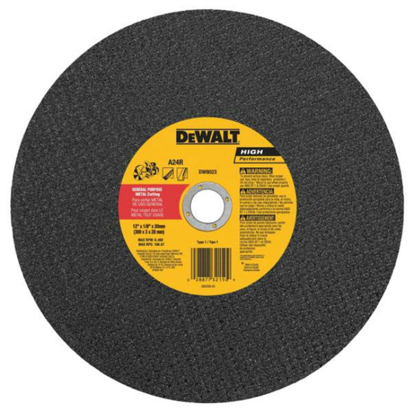 DeWalt DW8023 HP Metal Cutting High Speed Wheel, Type 1, 20 mm