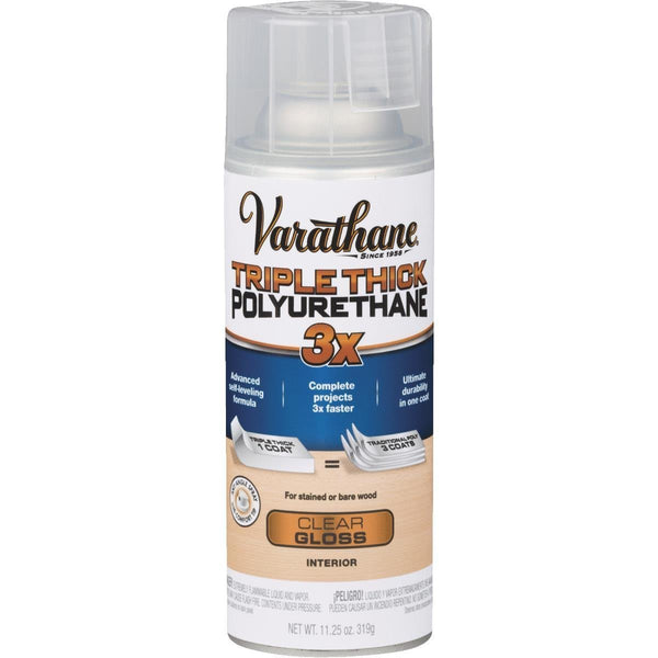 Varathane 318292 Triple Thick Polyurethane Spray, Gloss, 11.25 Oz Aerosol