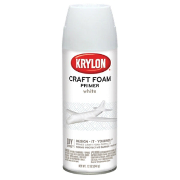 Krylon 5055 Craft Foam Primer, White, 12 Oz