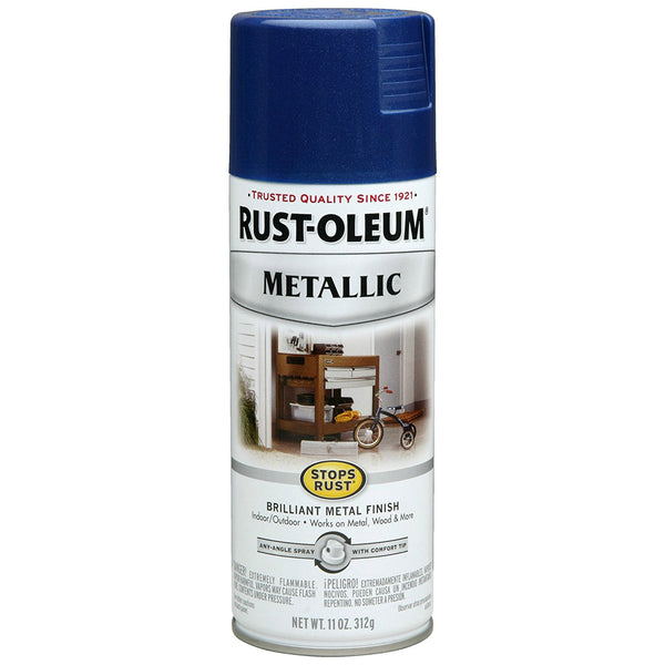 Rust-Oleum 7251830 Stops Rust Metallic Spray, Cobalt Blue, 11 Oz