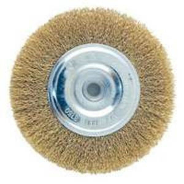 "Mibro 322551OR Coarse Wire Wheel Brush with Hole, 1/2"" Arbor, 4"""