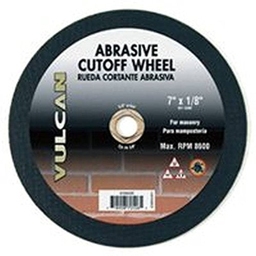 "Vulcan 972090OR Silicon Carbide Abrasive Cut-Off Wheel, 5/8"" Arbor, 7"" x 1/8"""