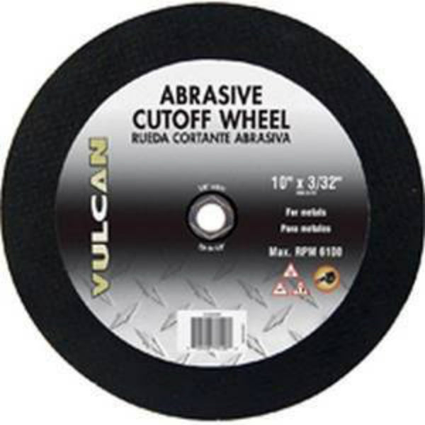 "Vulcan 916340OR Aluminum Oxide Abrasive Cut-Off Wheel, 10"" x 3/32"""