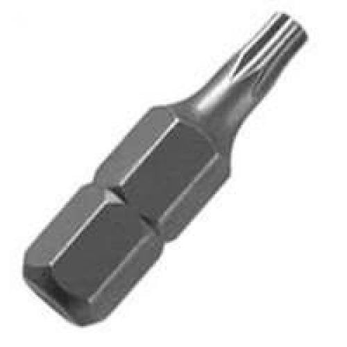 "Vulcan 307591OR Screwdriver Bit, T25, Torx, 1/4"" Hex Shank, 1"" L, Chrome"