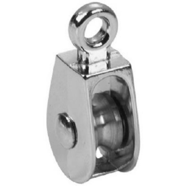 "Campbell T7655100N Single Rigid Eye Rope Pulley, 3/4"", 30 Lb"