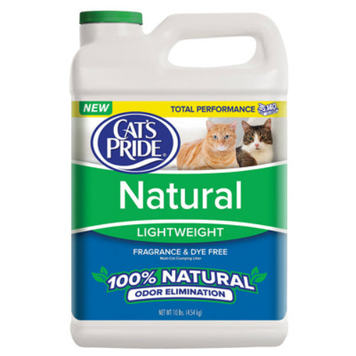 Cat's Pride C01310-C60 Natural Lightweight Scoop Cat Litter, 10 Lb Jug