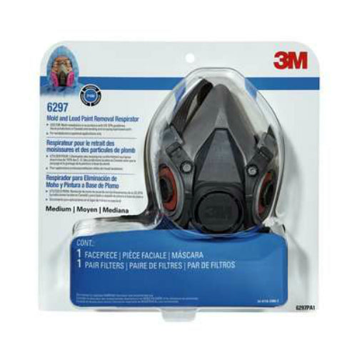 3M 6297PA1-A-NA Mold and Lead Paint Removal Respirator, Medium, P100
