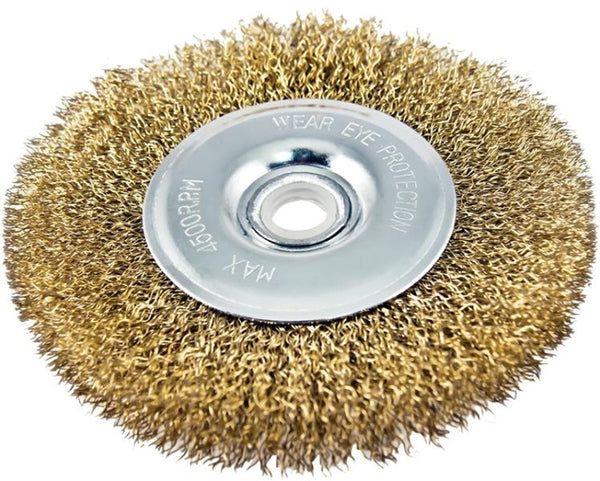 "Vulcan 322631OR Fine Grade Wire Wheel Brush with Hole, 1/2"" Arbor, 4"""