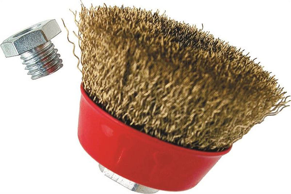 "Vulcan 694261OR Crimped Wire Cup Brush with Adapter, 3"" Dia"