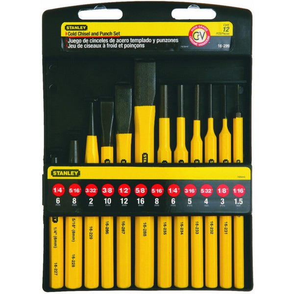 Stanley 16-299 Cold Chisel & Punch Kit, 12-Piece