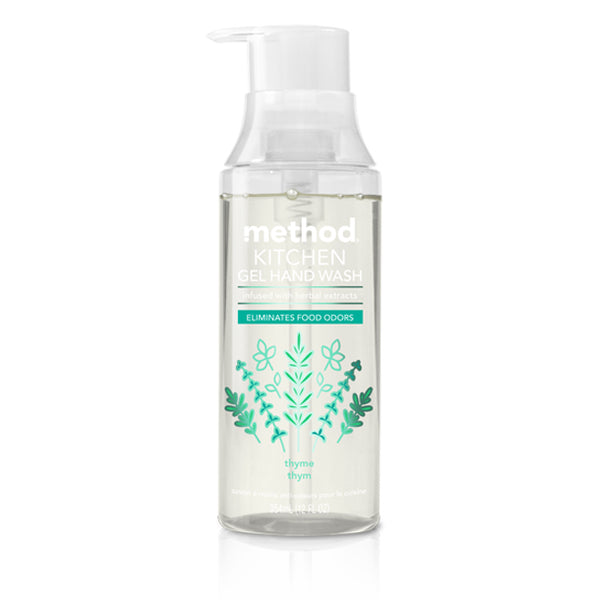 Method 01739 Kitchen Non Drying Gel Hand Wash, Thyme Scent, 12 Oz