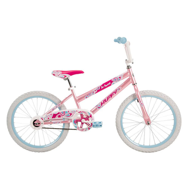 "Huffy 23318 So Sweet Single-Speed Girl's Bike with Kickstand, 20"", Pink, Age 5-9"