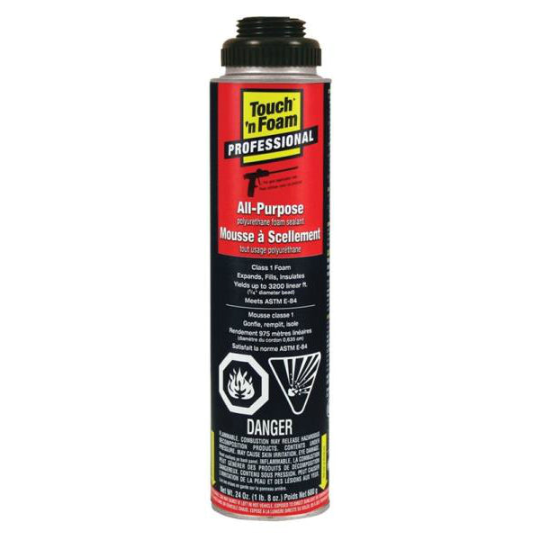 Touch 'n Foam 7565002420 Pro All-Purpose Polyurethane Foam Sealant, 24 Oz