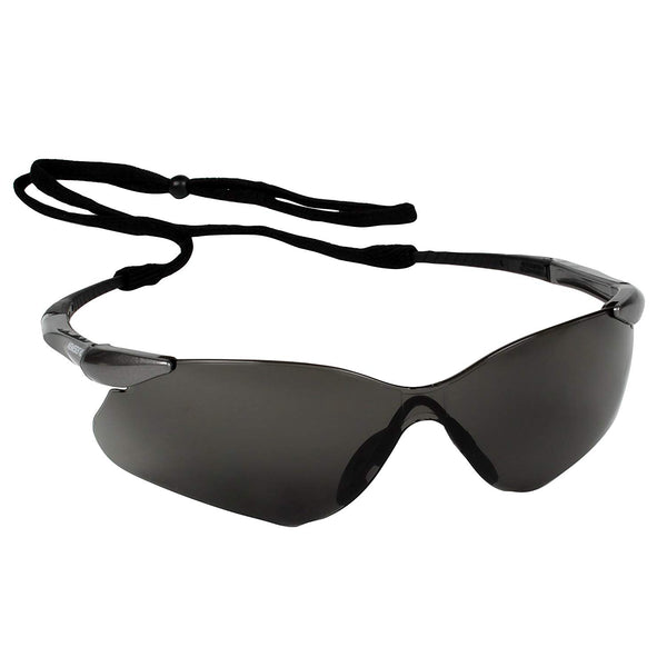 Jackson Safety 25704 Nemesis VL Safety Glasses, Gunmetal Temples & Smoke Lens