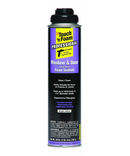 Touch 'n Foam 7565002010 Pro Window & Door Polyurethane Foam Sealant, 20 Oz