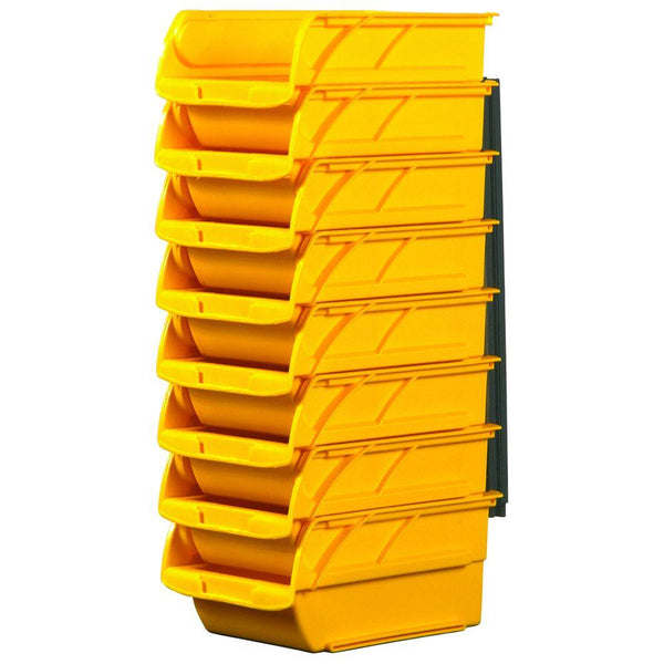 Stanley 057208R Stackable & Mountable #2 Storage Bin with Hangers, 8-Pack