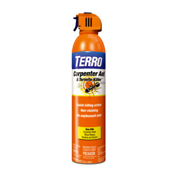 Terro T1901-6 Carpenter Ant & Termite Killer, 16 Oz, Aerosol Spray