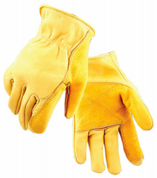 Golden Stag 207M Men's Grain Cowhide Leather Iron Fencer Glove, Gold, Medium