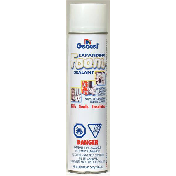 Geocel GC43200 Expanding Foam Sealant, 20 Oz