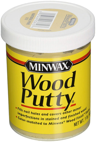Minwax 236104444 Non-Hardening Pre-Mixed Liquid Wood Putty, 1 Lb, Natural Pine