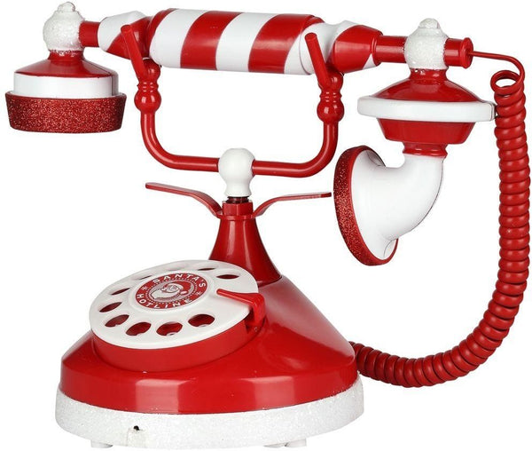 Gemmy 38396 Santa's Candy Stripe Holiday Telephone for Christmas Decoration
