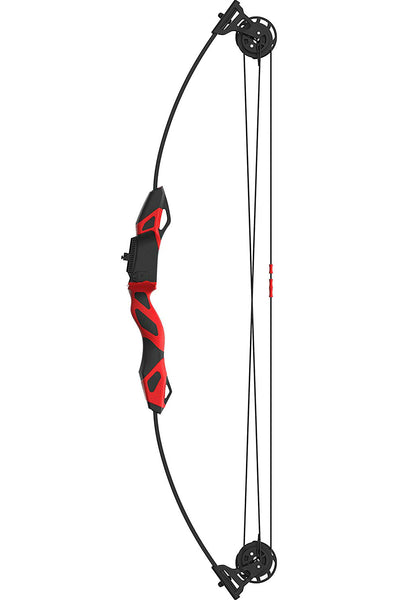 Barnett 1265 Vertigo Youth Compound Bow & Arrow Archery Set, Red/Black